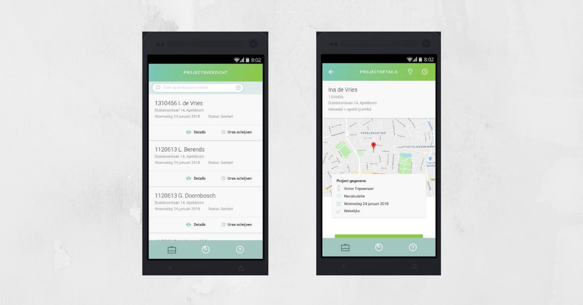 App voor urenregistratie met koppeling Afas - qbus-ict voor Android